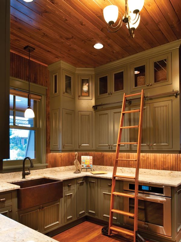 farmhouse country kitchen painted farm style kitchen with library ladder to reach those top on farmhouse kitchen kitchen id=62149