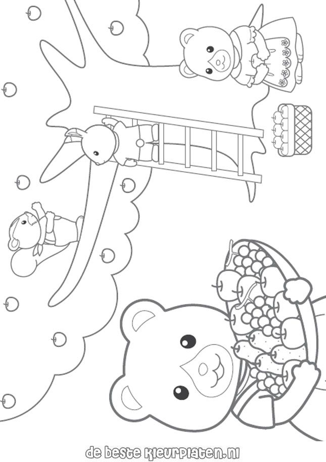 calico critters coloring page  sylvanianfamilies003