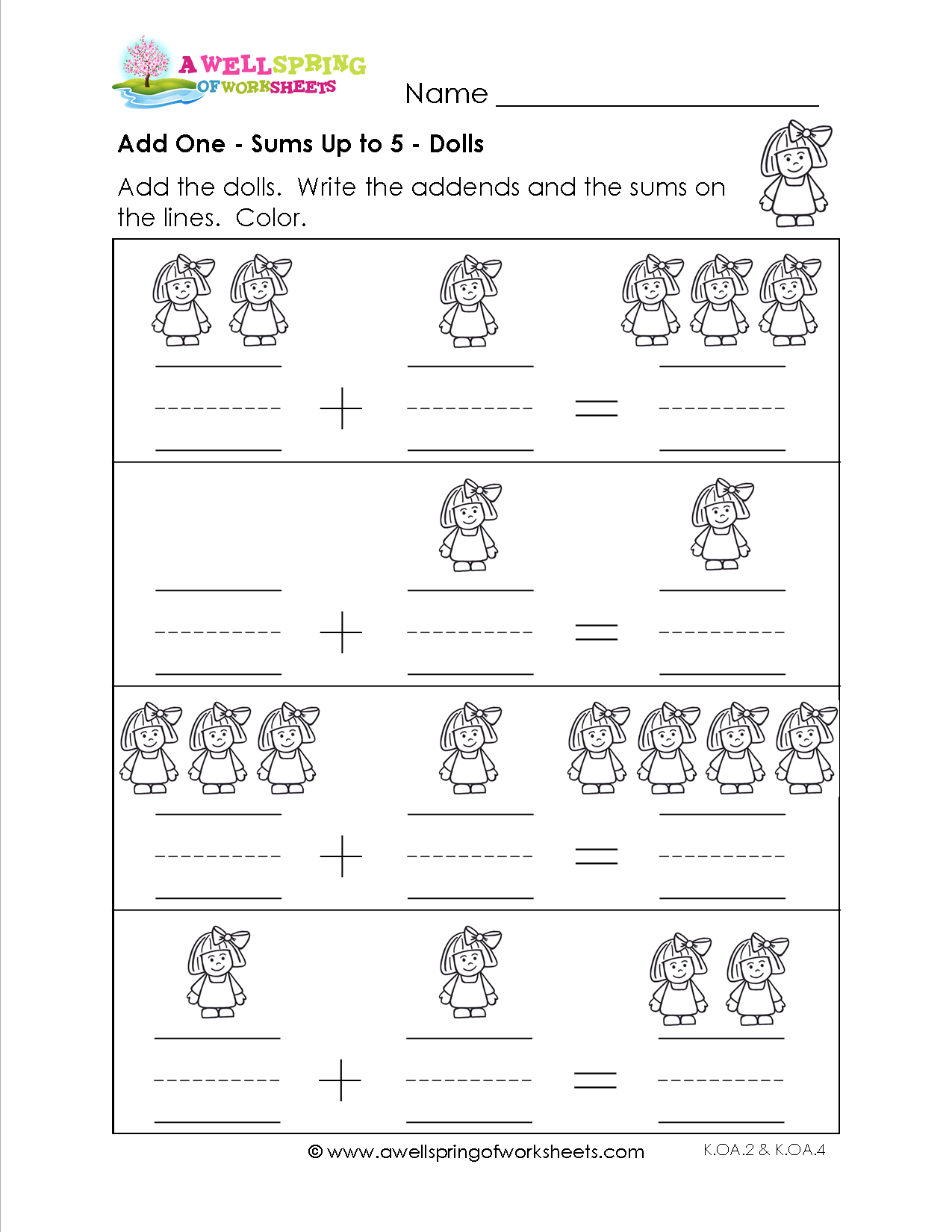 Kindergarten Worksheet Equivalent Sets