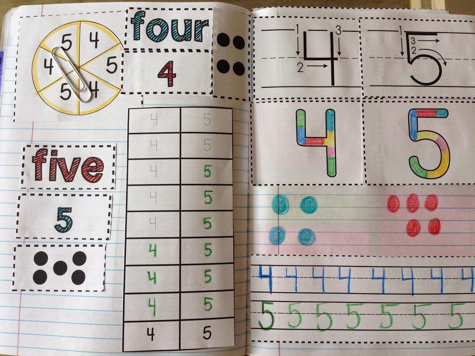 Kinder Interactive Math Journals Huge Freebie