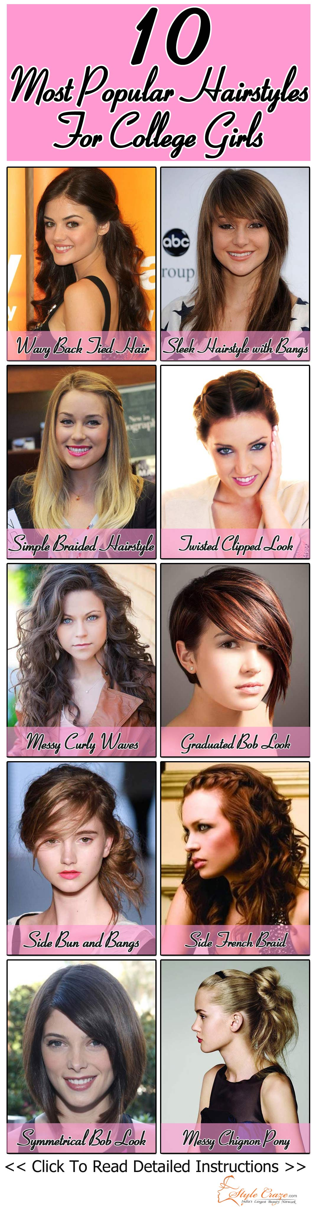 50 Most Popular College Girls Hairstyles
