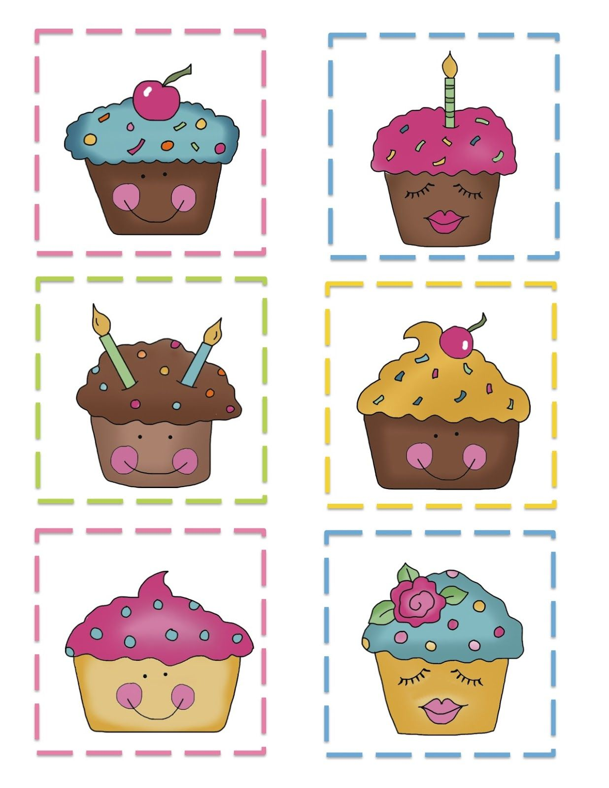 Preschool Printables Cupcake Pattern Cards
