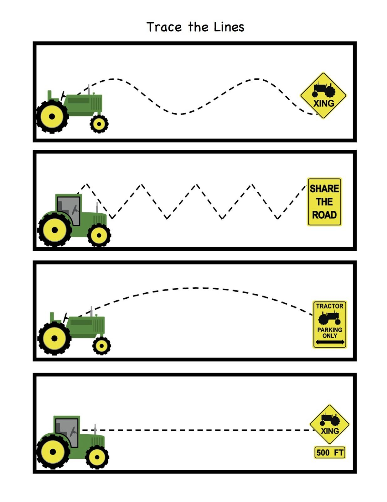 Tractor Trace The Lines
