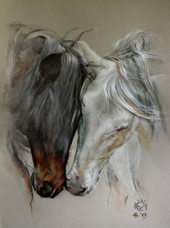 Horse art Indio XLII & Entendido XXXIV – Caballos…