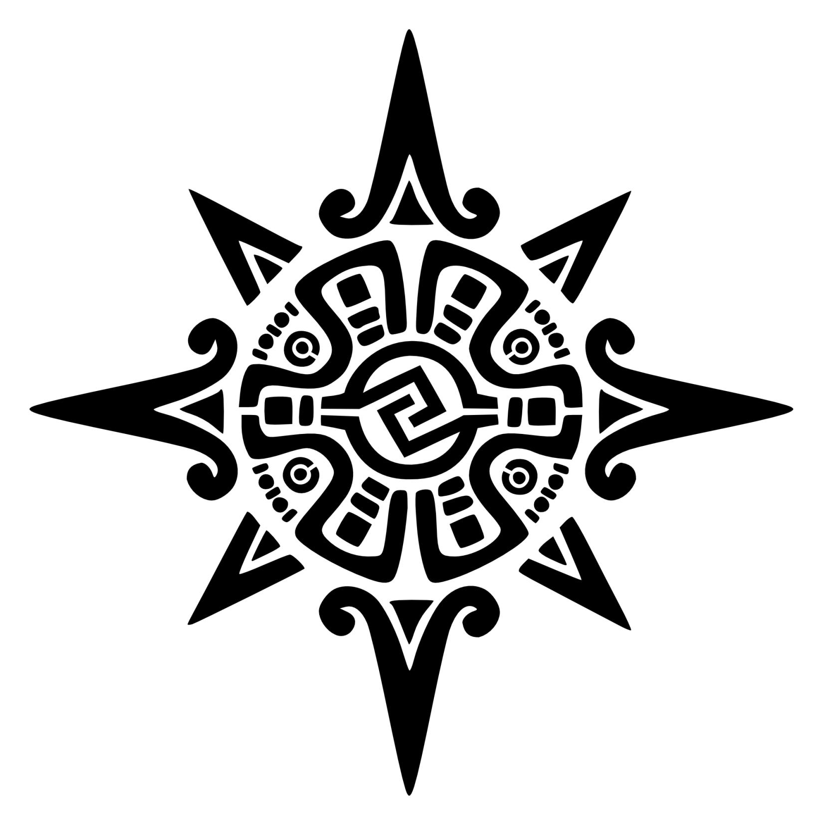 Aztec Sun God Tattoo Design