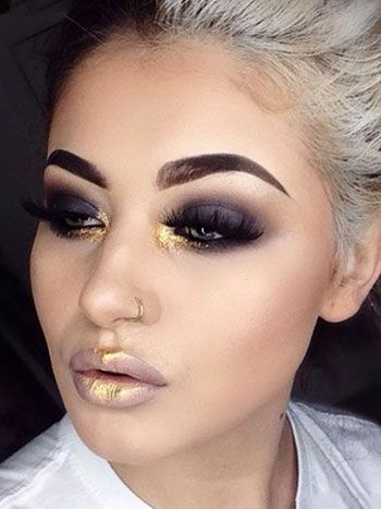 Stunning christmas makeup looks - shine like a star | Nude ...