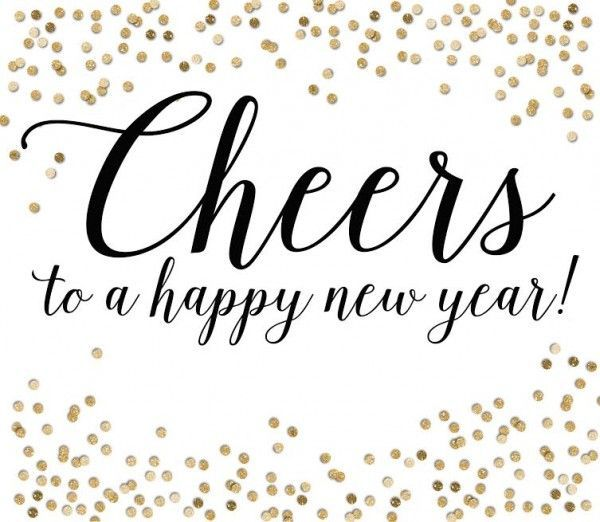 Cheers New Year Printable – Merry Christmas And Happy New Year 2018