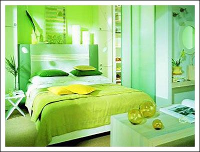 Ogous Color Scheme Here You See Yellow Green And. Pretty Green Bedroom   Bedroom Style Ideas