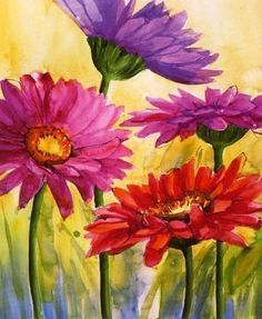 Image Result For Flowers With Erfly Painting Easy