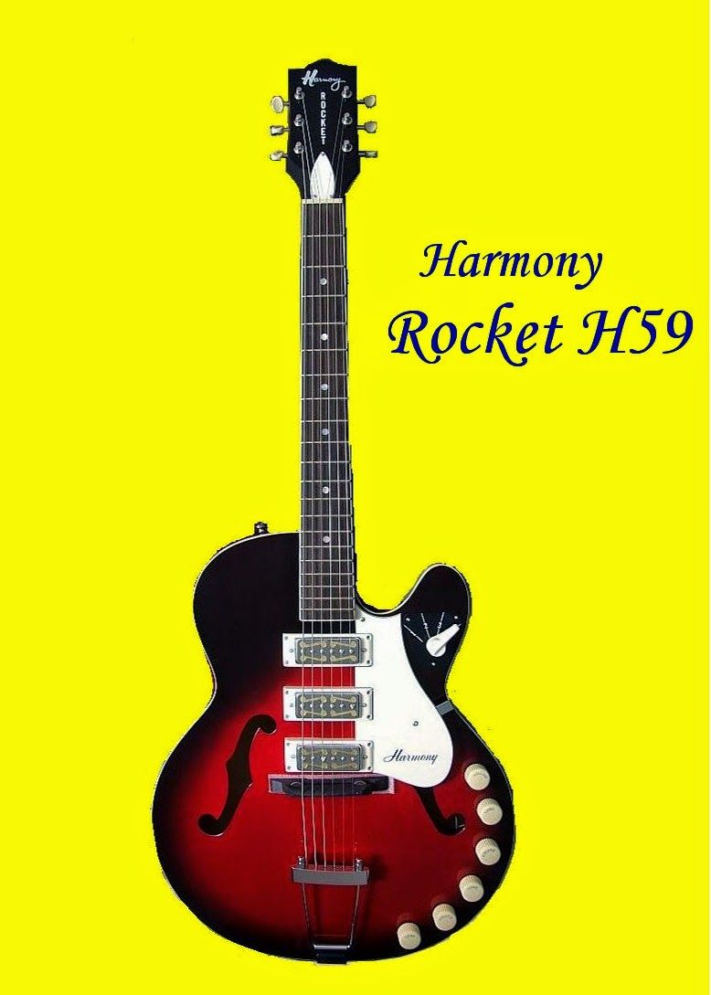 "the unique guitar blog: the harmony ""hollywood"" h59 rocket model"