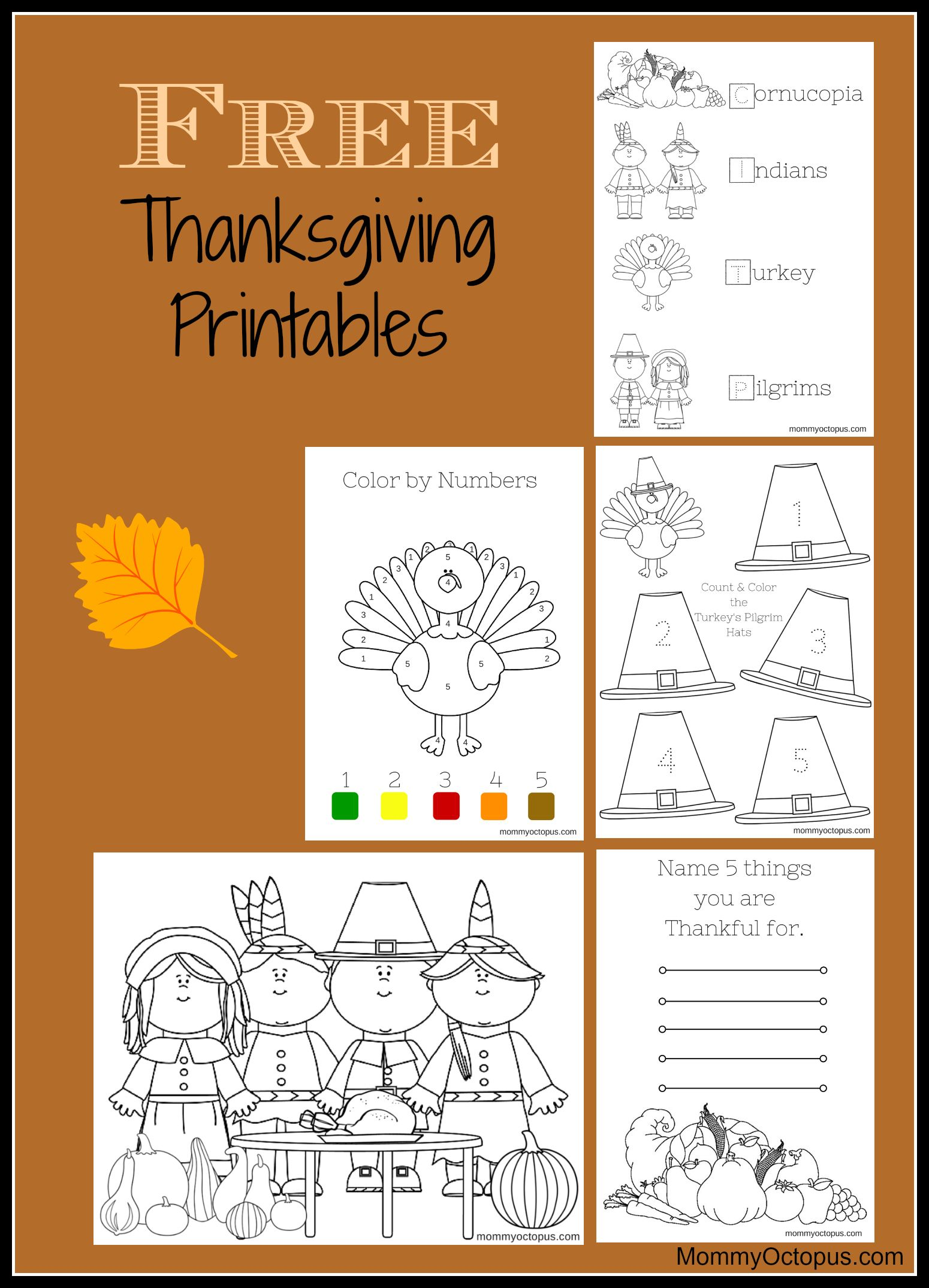 Thanksgiving Activity Free Printable Thanksgiving