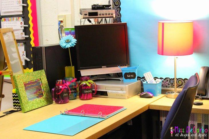 Classroom Inspiration Miss Kindergarten Desk space Pinterest