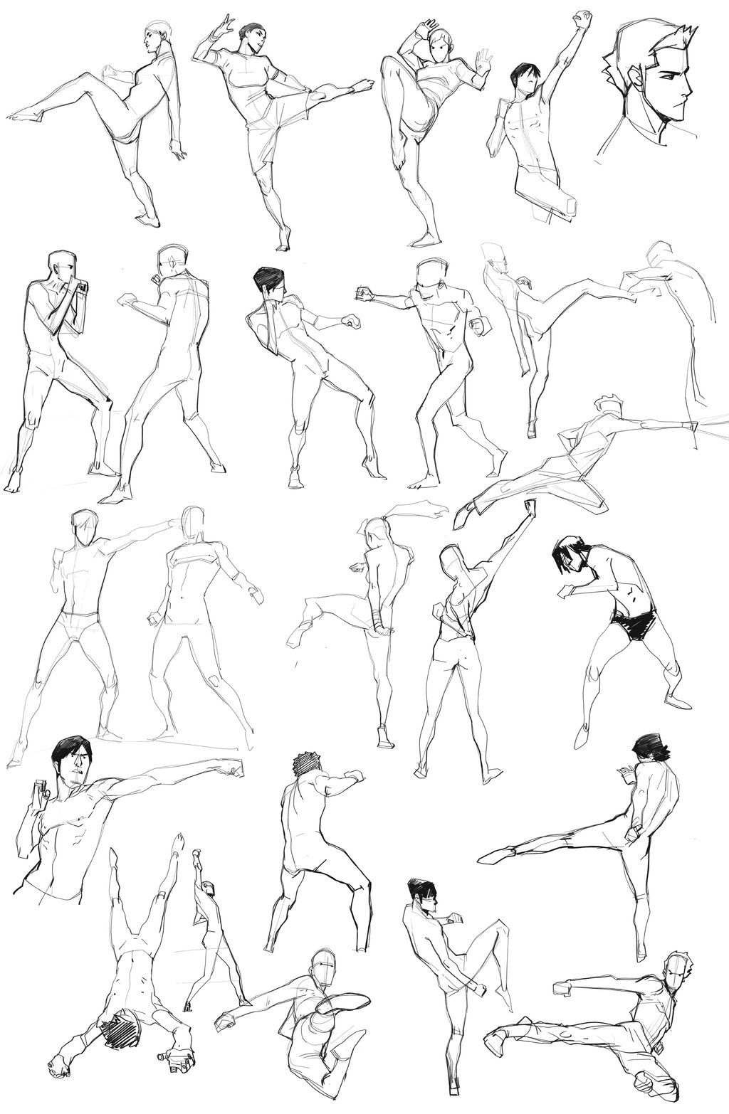 Daily Doodle 02 By Blacksataguni On Deviantart Gt Gt Action Pose Fighting Poses Reference Sheet