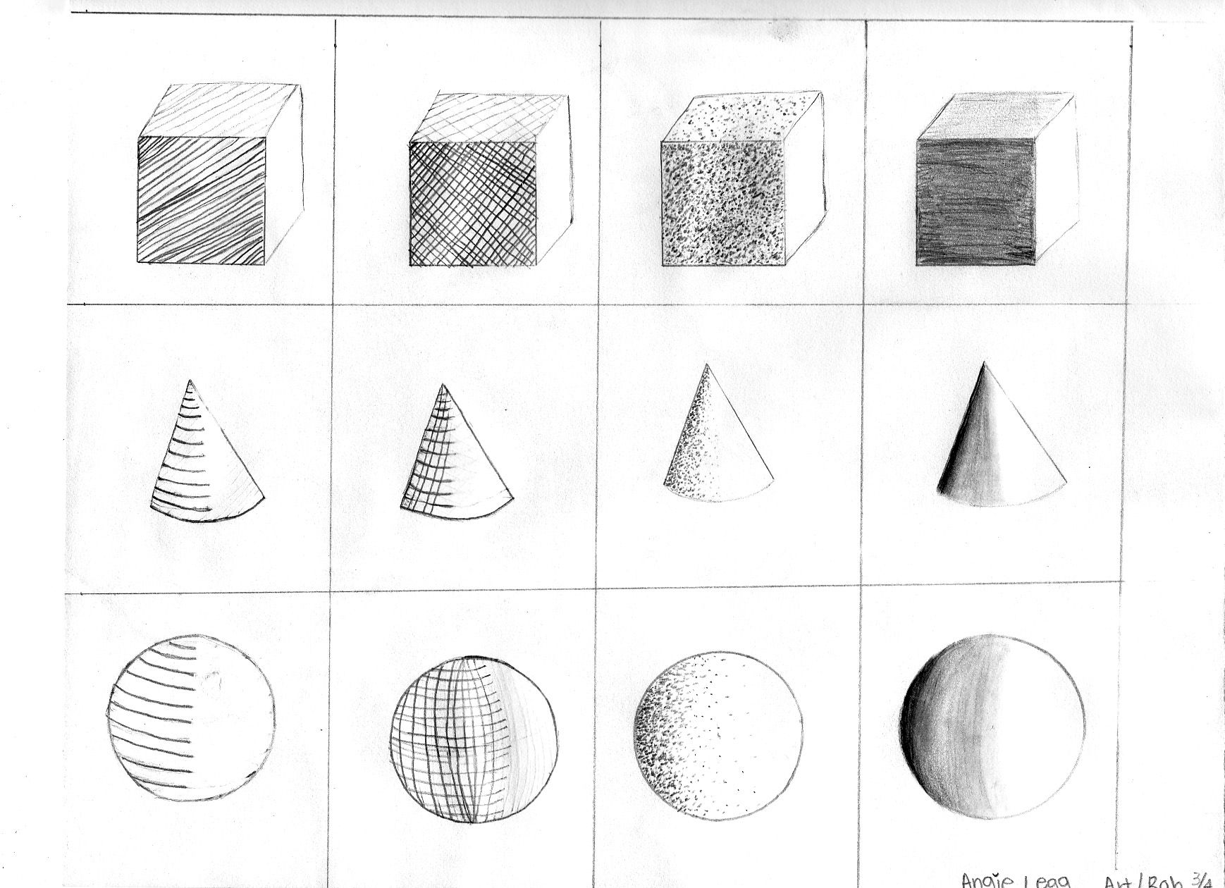 Shading Worksheet Art Activity