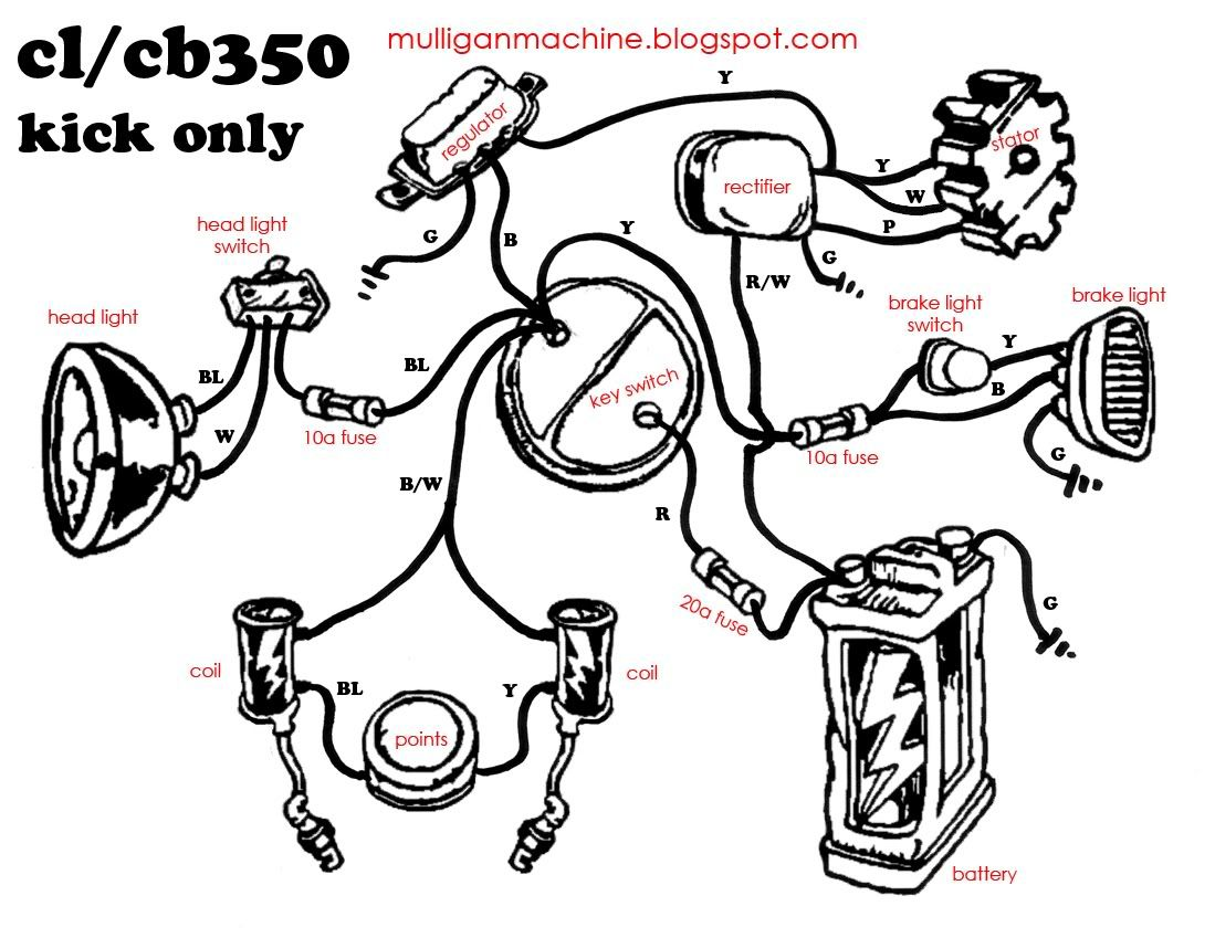 Simple Honda Motorcycle Wiring Diagram
