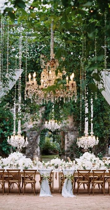 For An Elegant Summer Wedding Chandeliers
