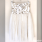 Short whitegold hoco dress