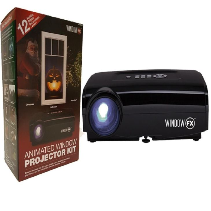 Seasonal Window FX Projector Animated Window Display Kit Holidays