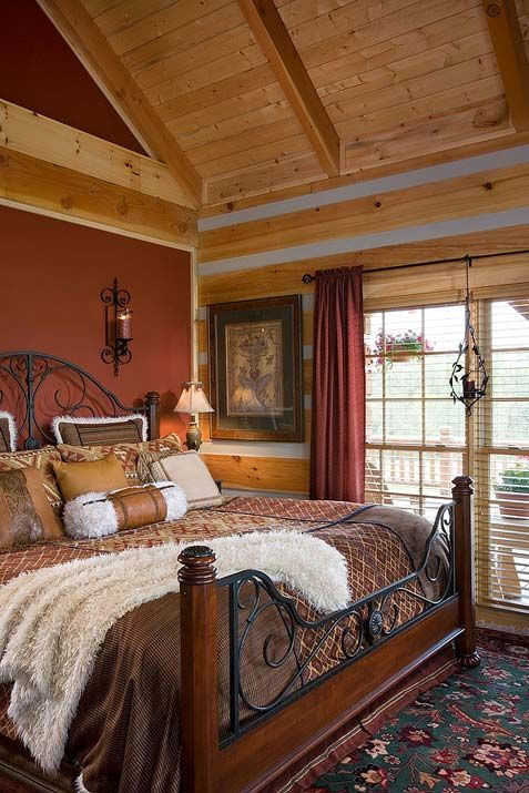 cinnamon wall cinnamon wall paint bedroom accent wall on rustic cabin paint colors id=76933