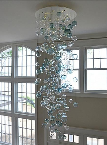 N Glass Bubble Chandelier By Studio Bel Vetro