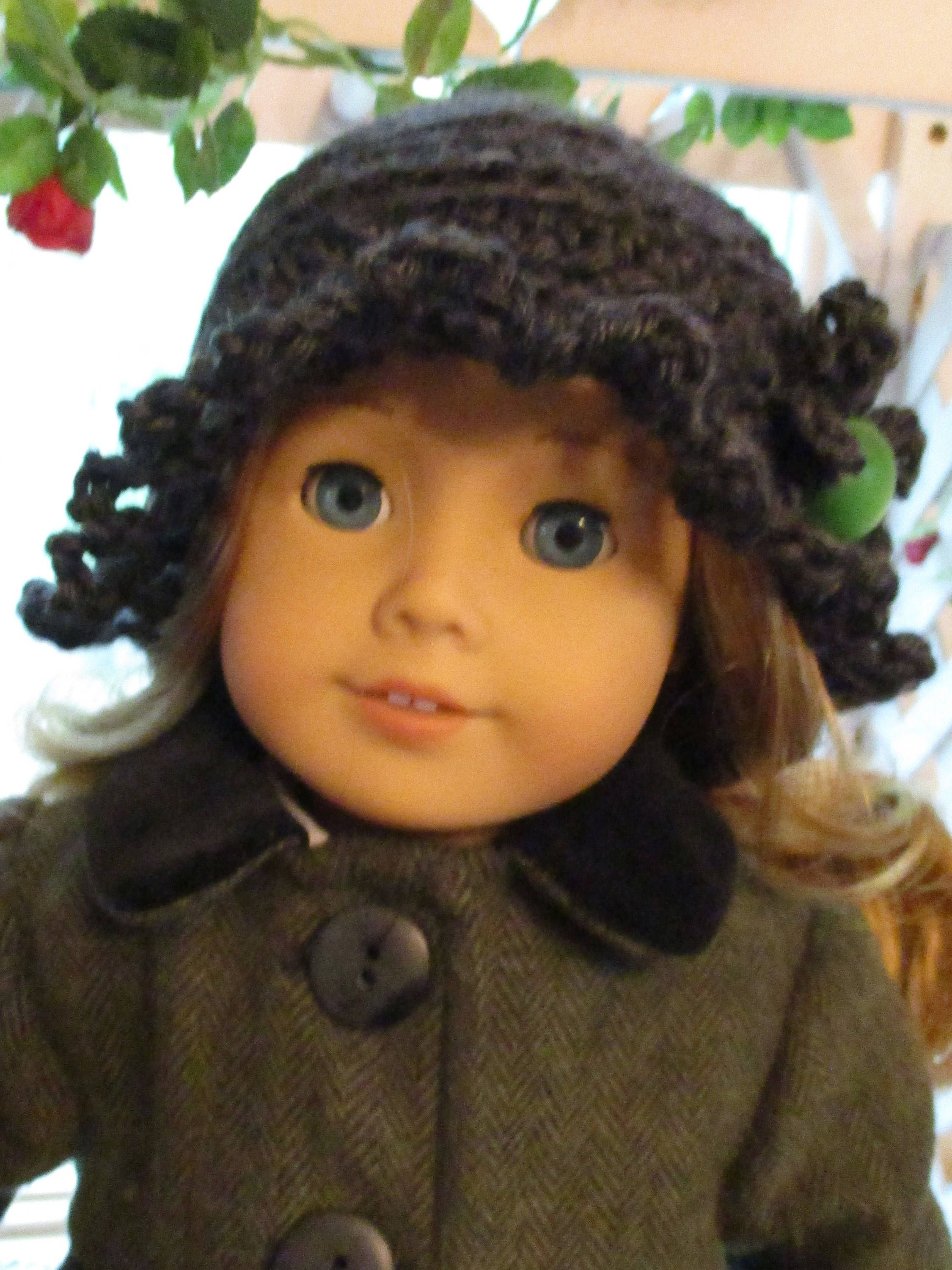 """Charcoal Gray Doll Hat to fit your 18"""" American Girl Doll or Bear by"""