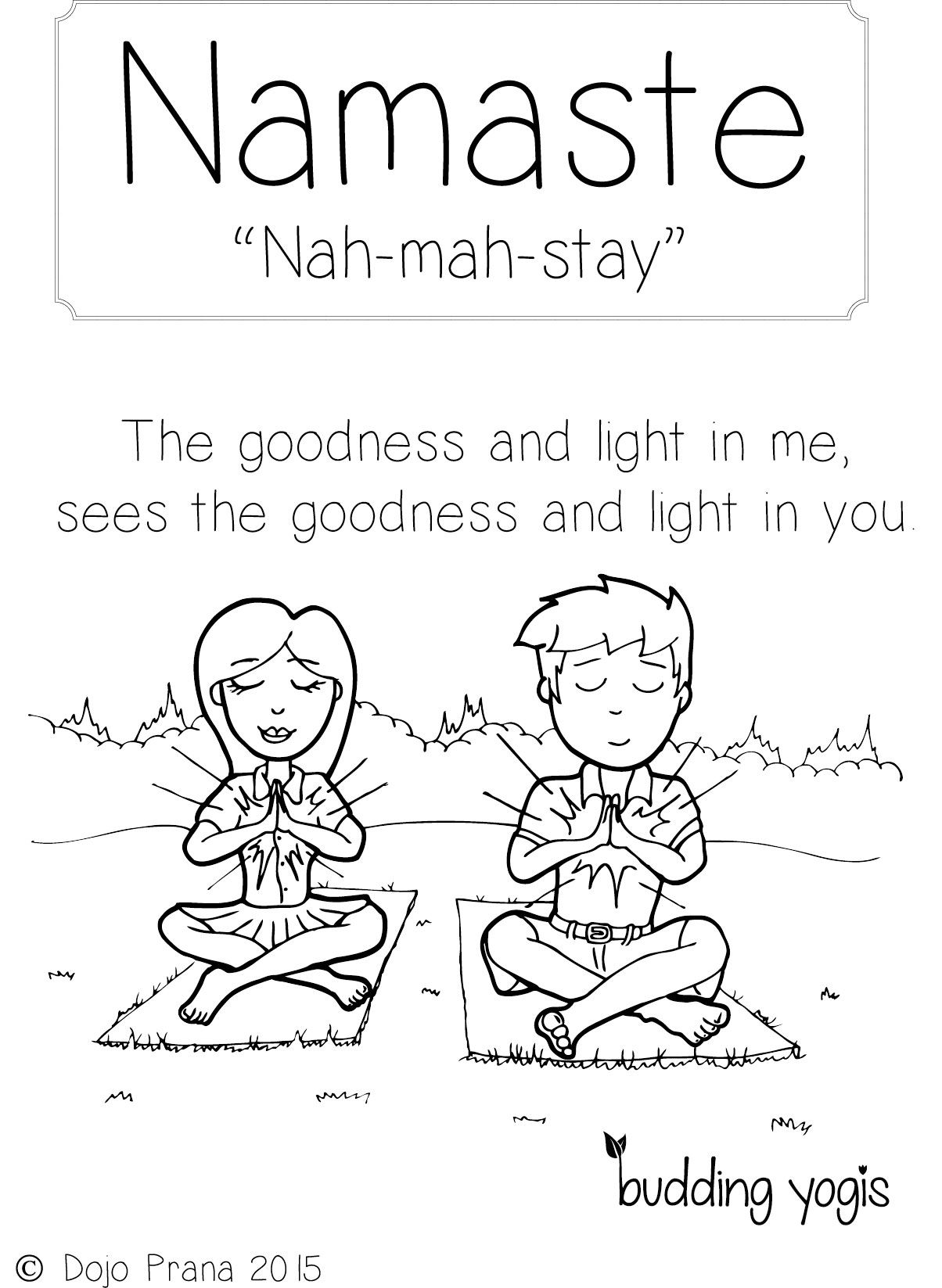 Yoga Colouring Pages
