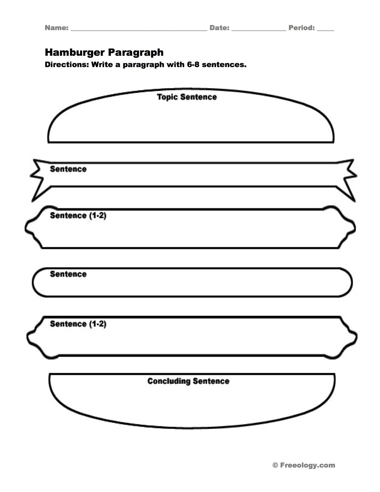 Hamburger Paragraph I Love This Graphic Organizer To Help
