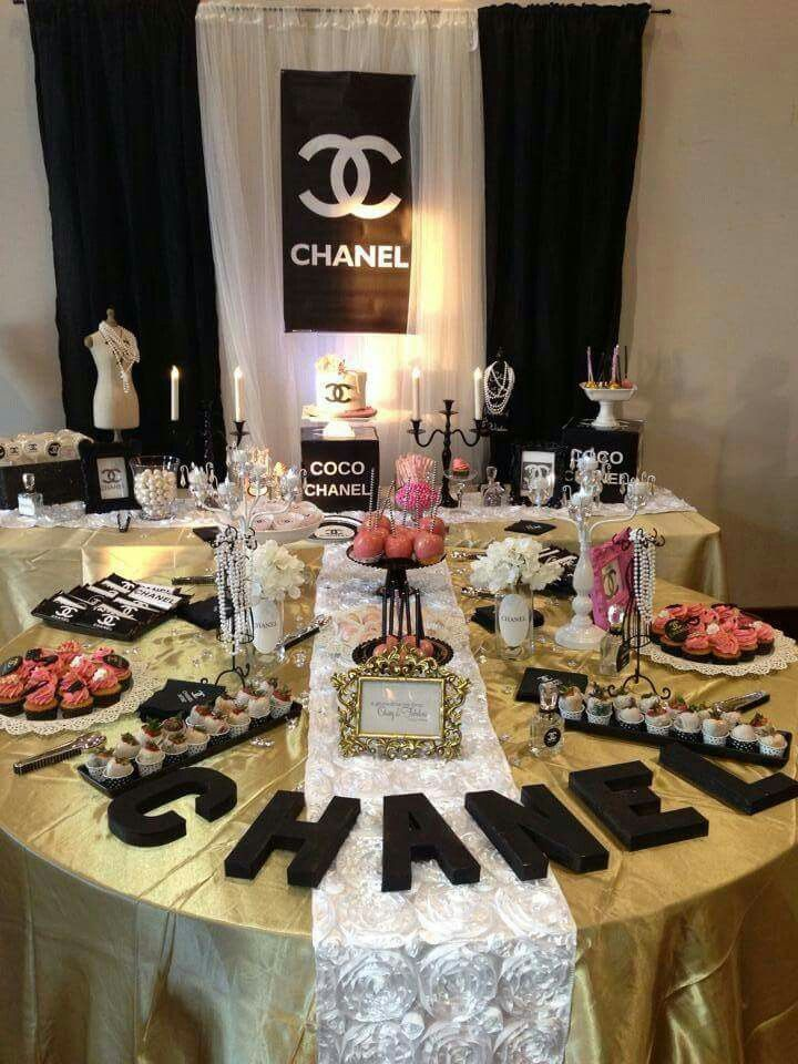 Pin By 🎀 Jenny 🎀 On Chanel Themed Party Pinterest