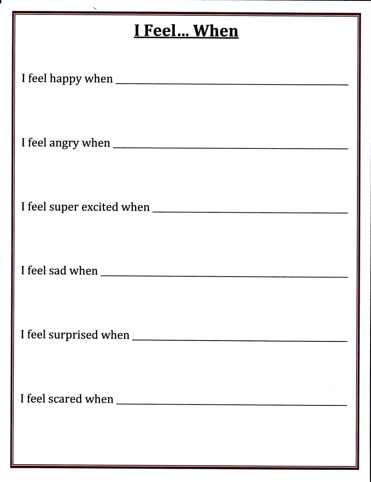 Printables Grief Worksheet Mywcct Thousands Of Printable