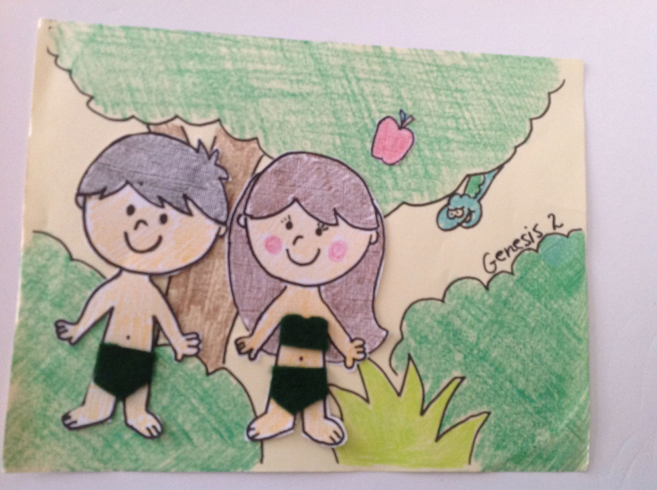 Adam And Eve Bible Craft