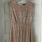 Nwt j crew sequined capsleeved dress pinksilver silver sequin