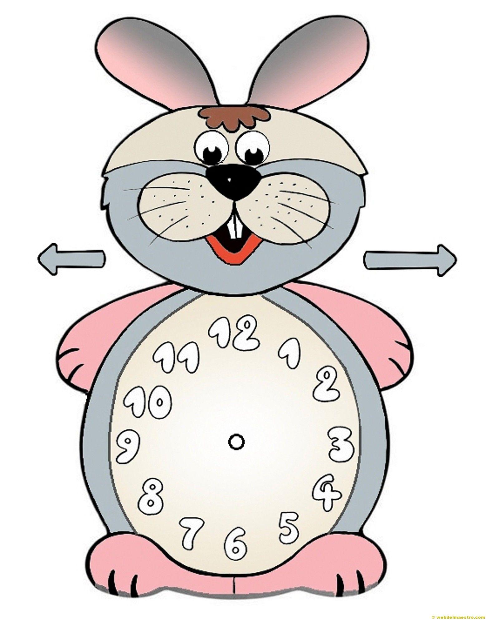 Relojes Para Aprender La Hora 7 Color