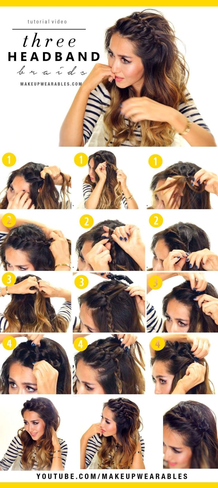 Easy Headband Braids Cute halfup hairstyles for everyday