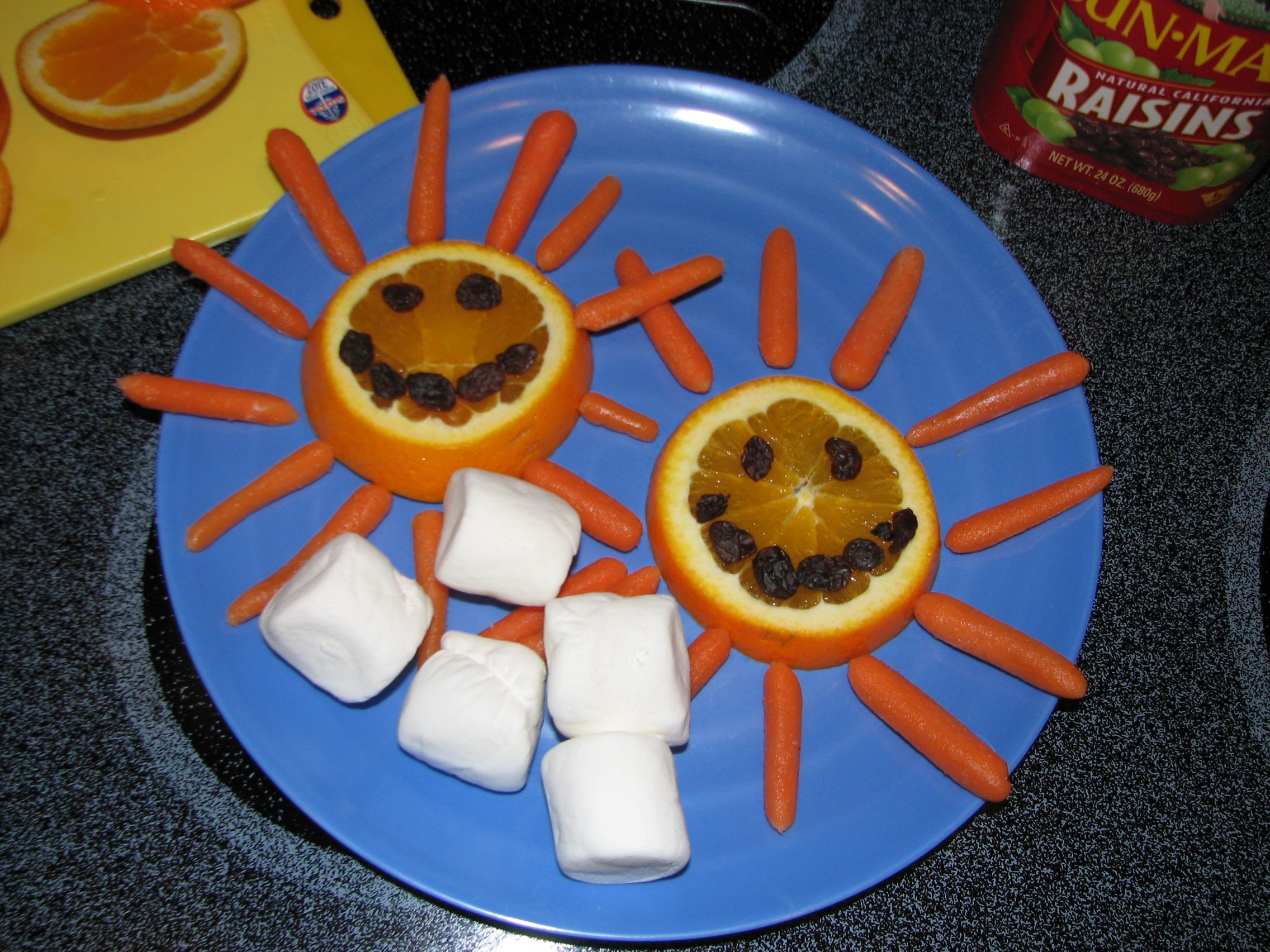 Sunshine Snack To Use For A Weather Theme In Preschool Sliced Oranges Baby Carrots And