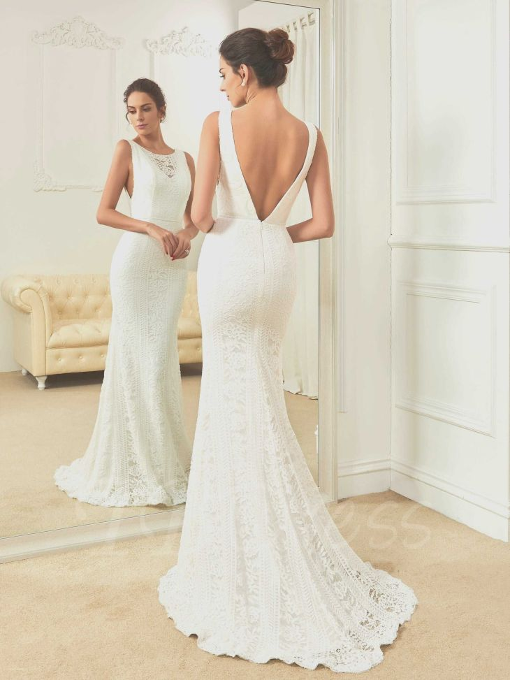 Awesome Open Back Wedding Dresses with Bow  Lace wedding dresses