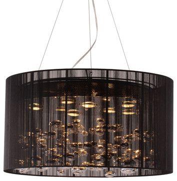 Zuo Modern Symmetry Ceiling Lamp In Black Chandeliers