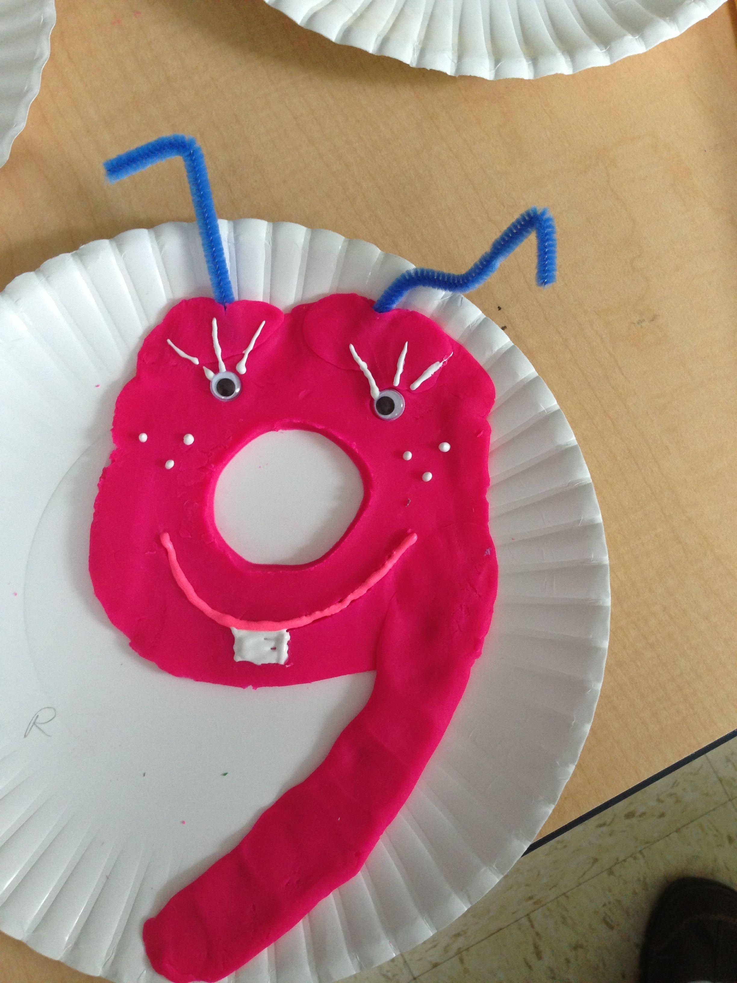 Play Dough Number 9 Craft