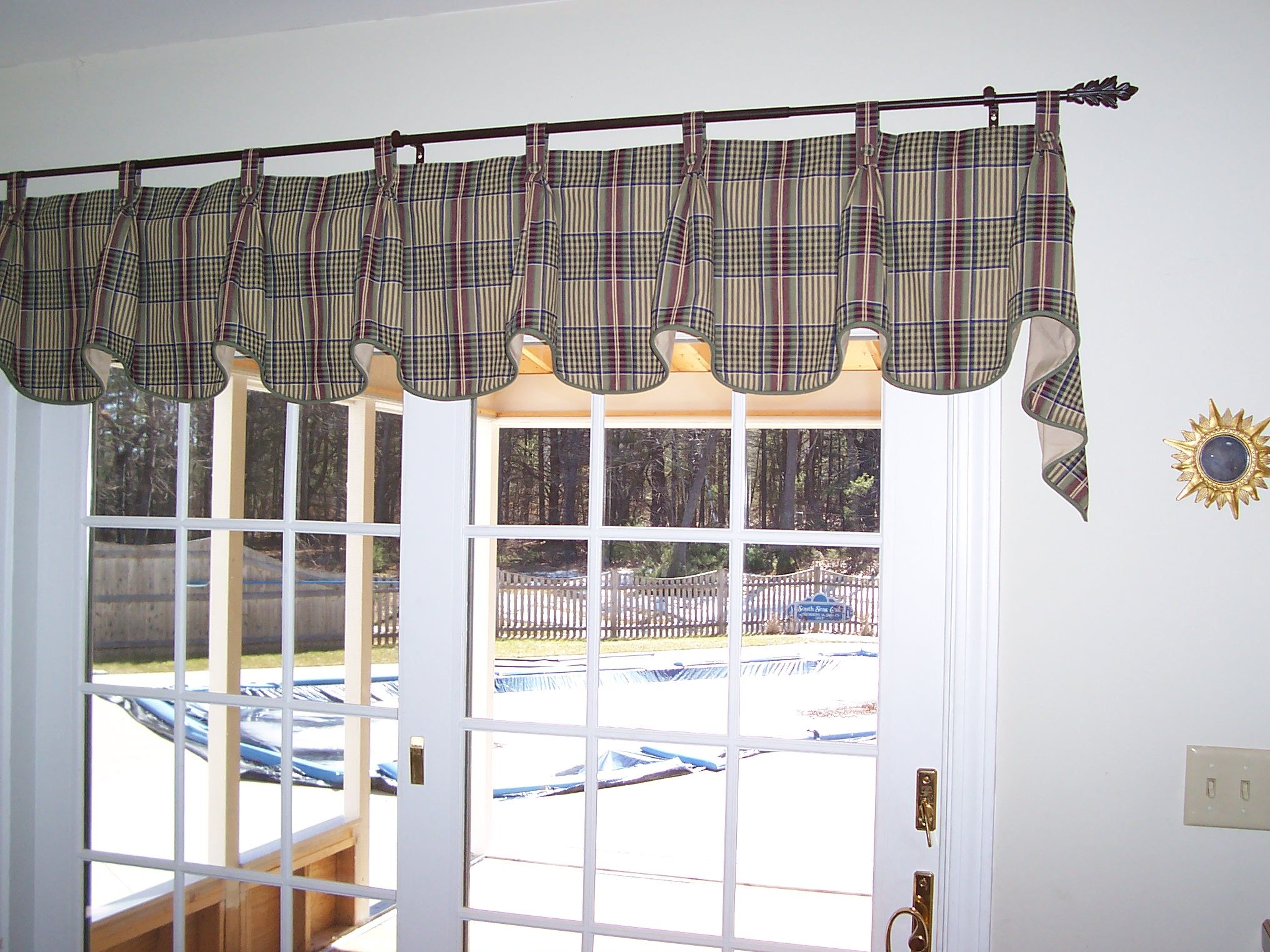 Tab Top Valance With Pleats At Each Tab And Covered