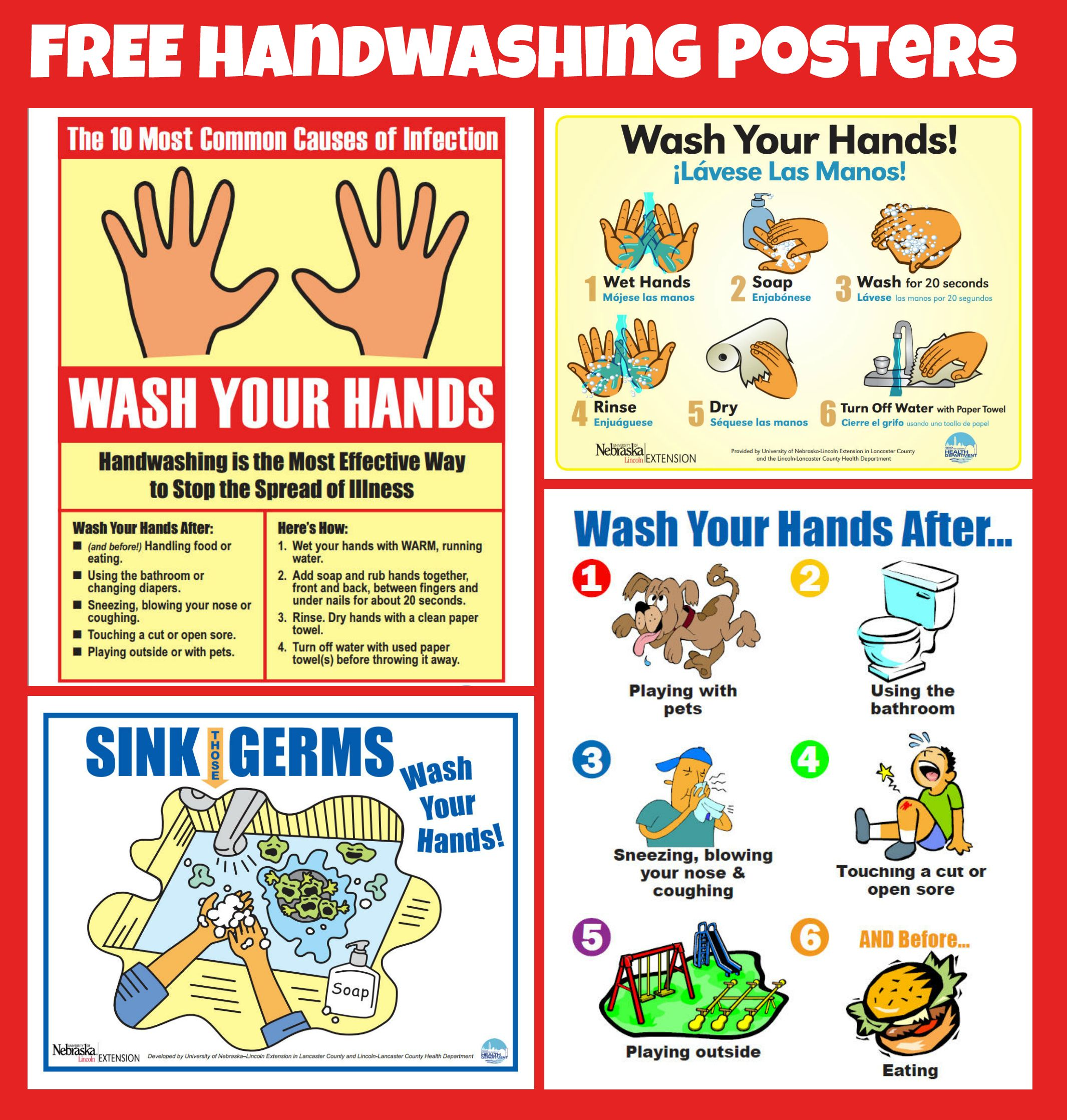 Free Handwashing Posters