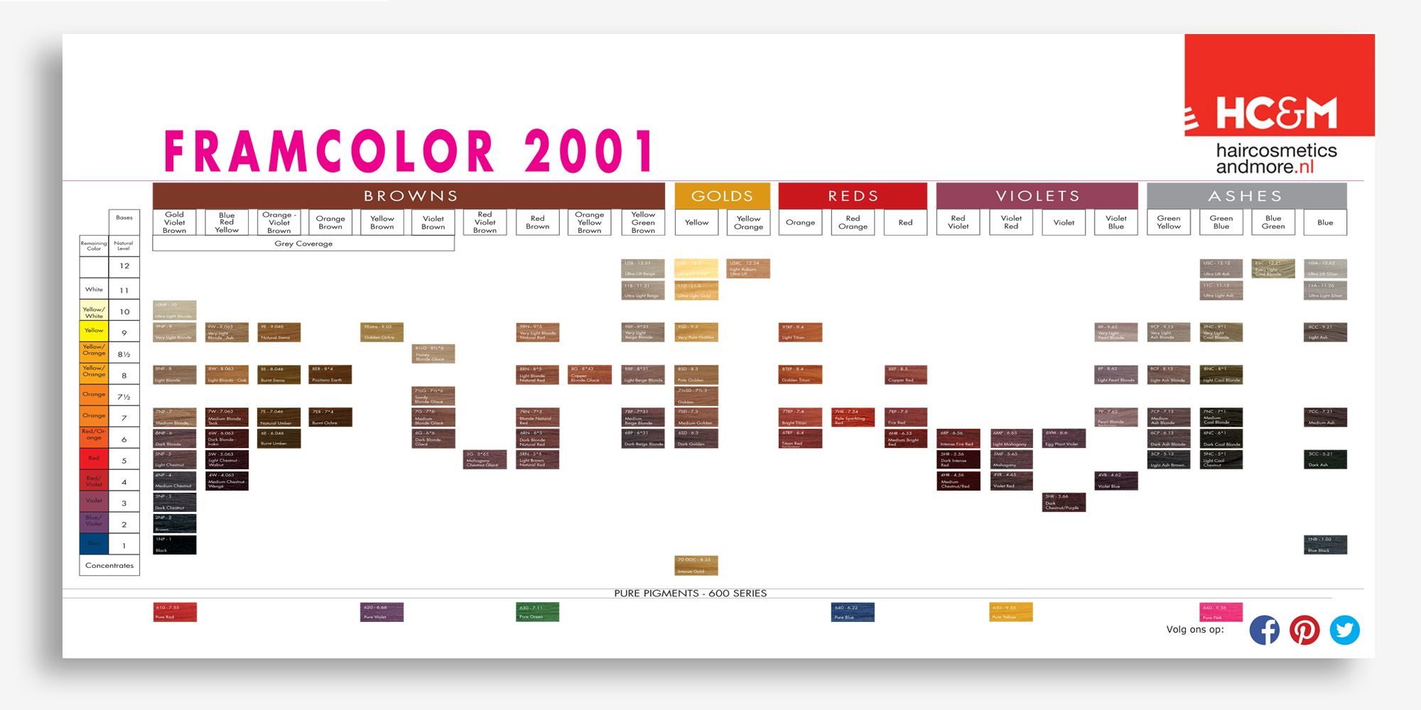 Hc Amp M Framcolor Color Chart Preview