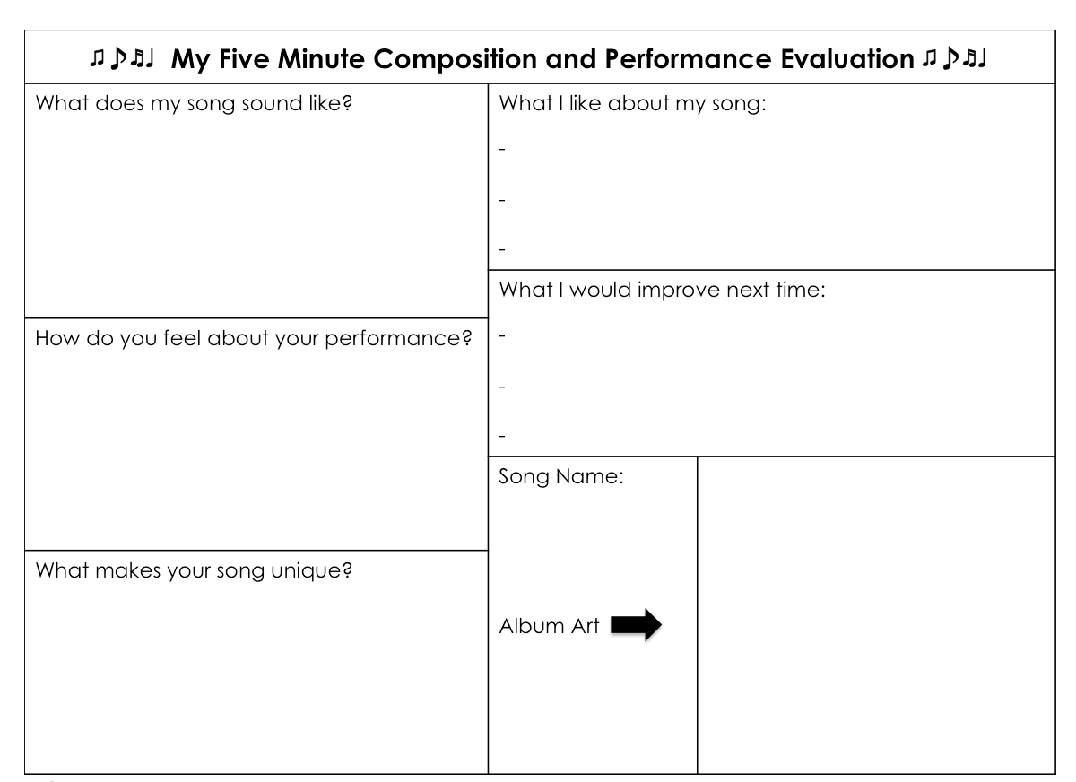 Composition And Performance Evaluation Ks2 Music Primary