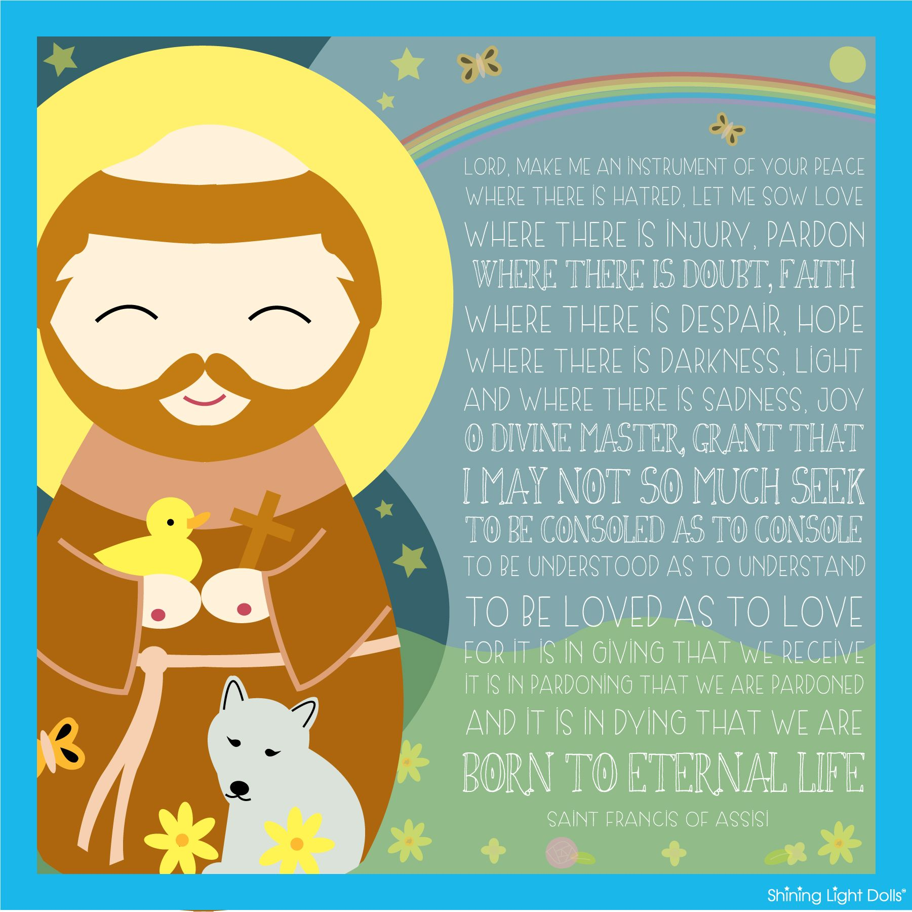 St Francis Of Assisi Quote Printable Free Other Saints Too It Is In Giving That We Receive