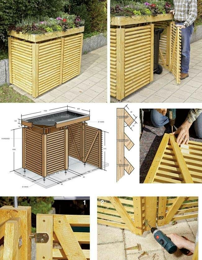1000 Ideas About Garbage Can Shed On Pinterest Build