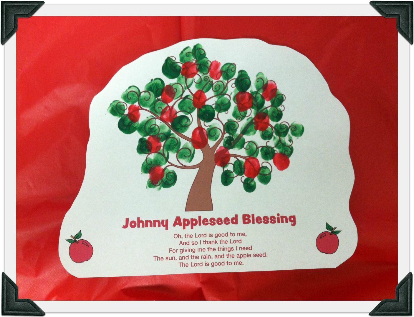 Johnny Appleseed Fingerprint Printable From Guildcraft Arts Amp Crafts