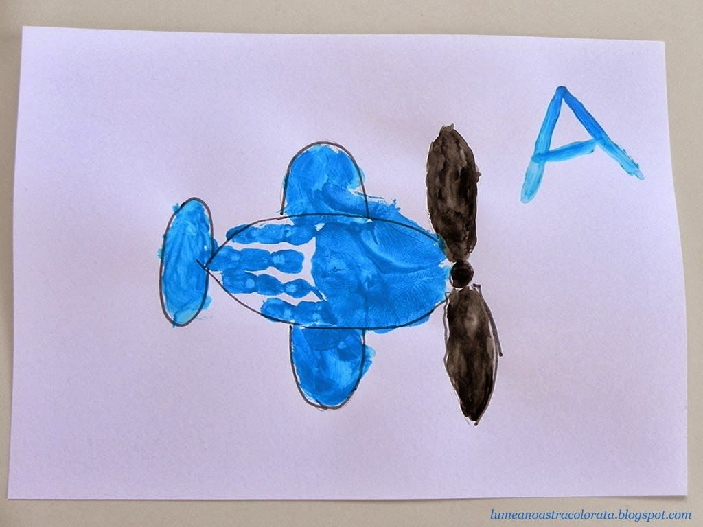 A Is For Airplane Handprint For Kids