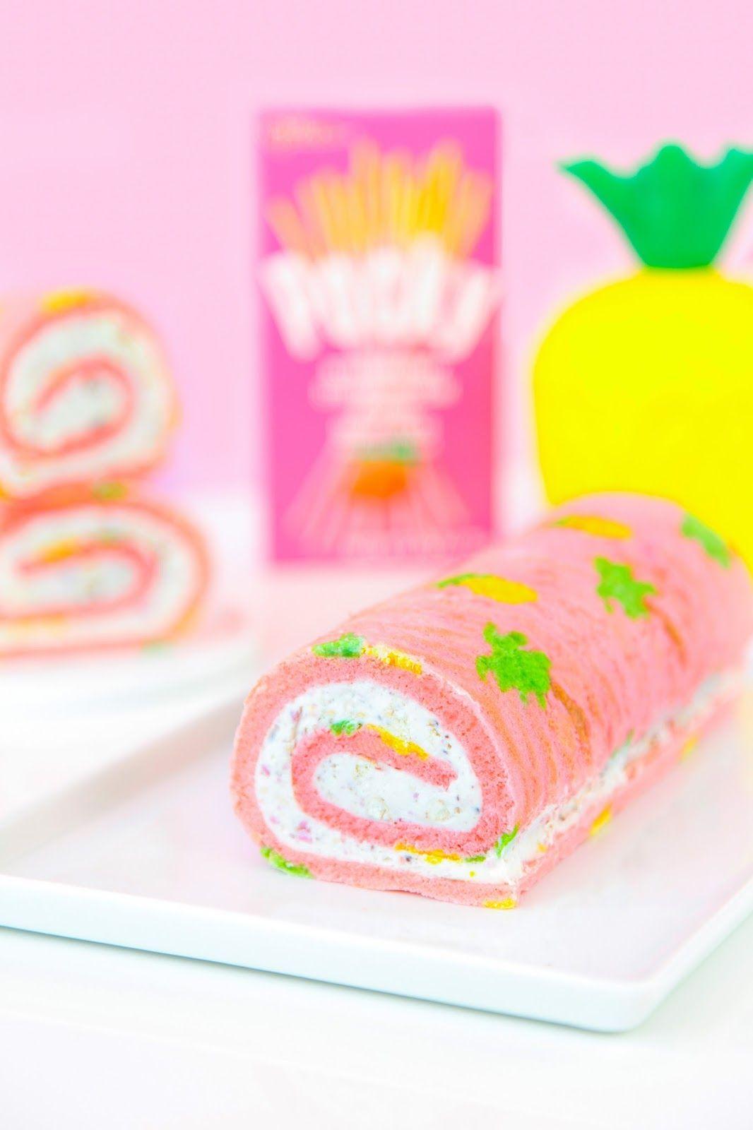 Tropical Pocky Cake Roll Recipe
