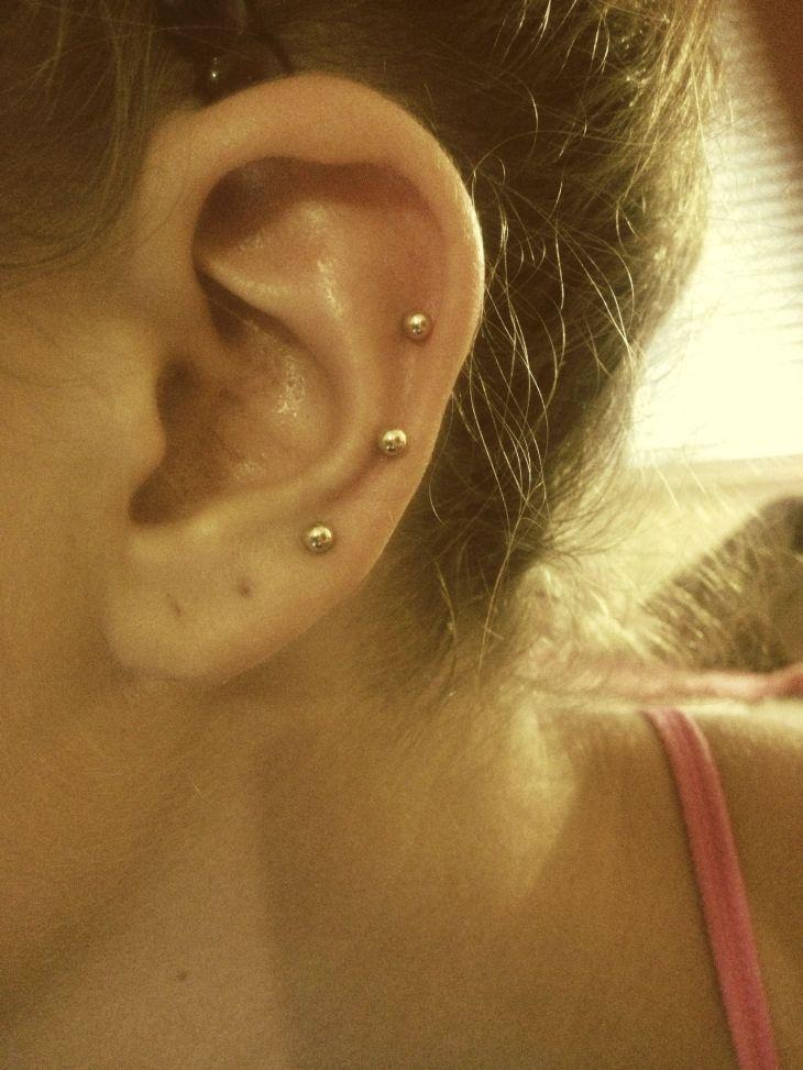 My new ear piercings   Peircings  Pinterest  Ear piercings