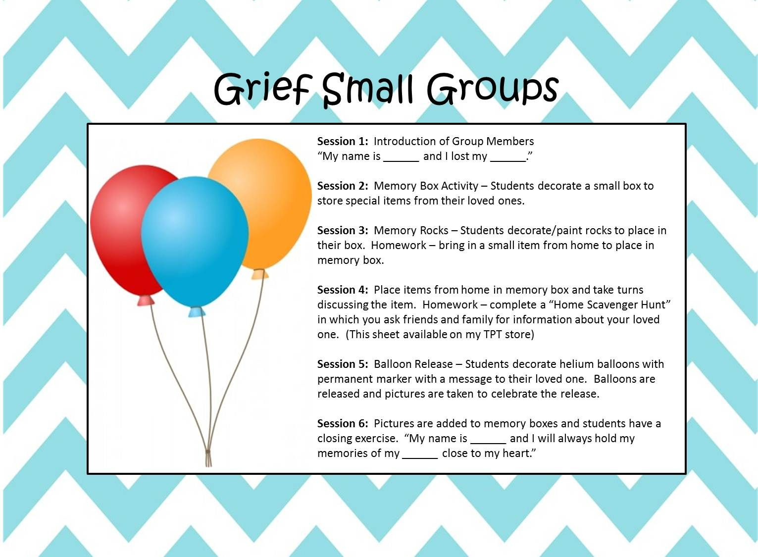 Grief Group For Kids