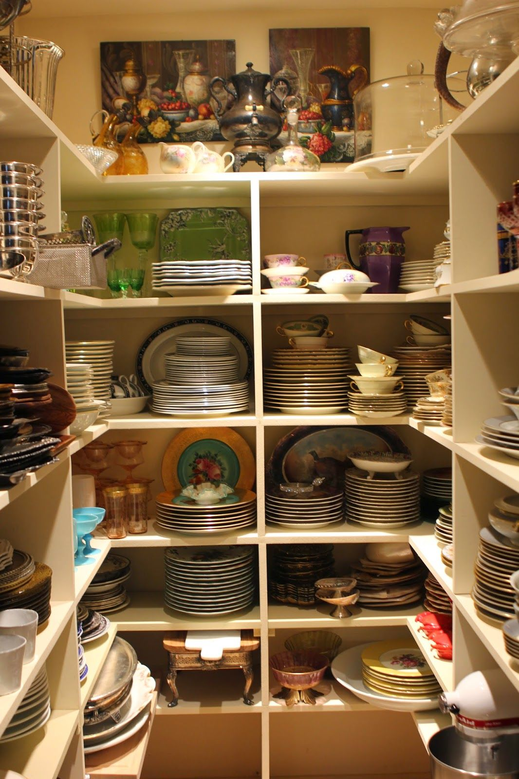 love the storage for dinnerware and serving pieces romancing the home kitchen organization on kitchen organization dishes id=52693