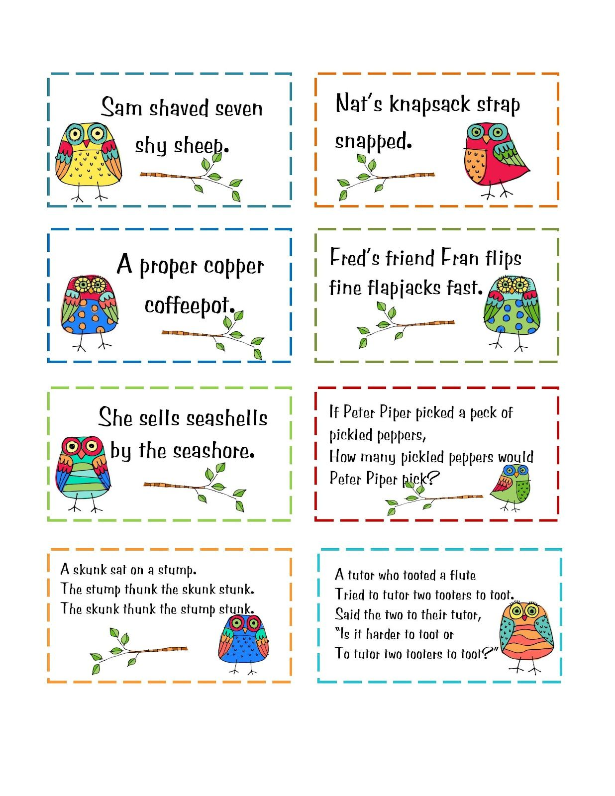 11 7 Tongue Twister Day Preschool Printables Free Tongue Twister Cards